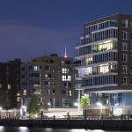Modern building in HafenCity